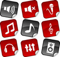 Audio  stickers. Stock Image