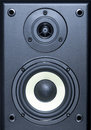 Audio system equipment - speaker close up view Royalty Free Stock Photo
