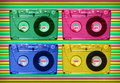 Audio tape disco Royalty Free Stock Photo