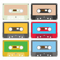 Audio tape set I Royalty Free Stock Photography