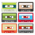 Audio tape set II Royalty Free Stock Photo