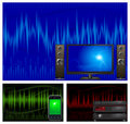 Audio & TV equipment Stock Photo