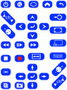 Audio and video buttons Royalty Free Stock Photos