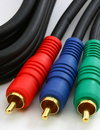 Audio Video component cables, Royalty Free Stock Photo