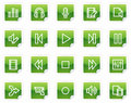 Audio and video edit web icons Stock Images