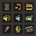 Audio and Video Icon Series Stock Photography