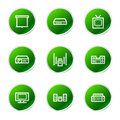 Audio video icons Royalty Free Stock Photography