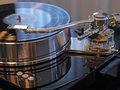 Audiophile HiFi turntable player. Royalty Free Stock Photo
