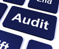 Audit key shows auditor validation or inspection showing Royalty Free Stock Image
