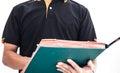 Auditor checking documentation of man Royalty Free Stock Image