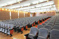 The auditorium with seats Royalty Free Stock Photo