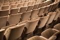 Auditorium seats rows of empty Royalty Free Stock Photos