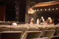 Auditorium seats rows of theater Royalty Free Stock Photos