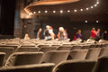 Auditorium seats rows of theater Stock Photos