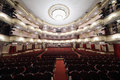 Auditorium in vakhtangov theatre moscow april on april moscow russia of large stage of theater accommodates people Stock Image