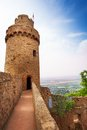 Auerbach tower and wall remains germany castle in southern hesse europe Stock Photo