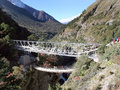 Aufhebung-Brücke - Nepal Lizenzfreie Stockfotografie