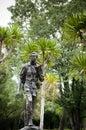 AUG 26, 2012 HUAI KHA KHAENG WILDLIFE SANCTUARY, THAILAND : Seub Nakhasathien monument, the great conservationist of Thailand. Royalty Free Stock Photo