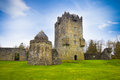 Aughnanure medieval castle in oughterard ireland Royalty Free Stock Photography