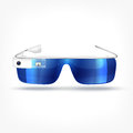 Augmented reality white glasses illustration of modern with camera Stock Images