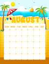 August calender Royalty Free Stock Photo
