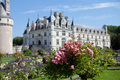 29 AUGUST 2015, FRANCE: French castle Chateau de Chenonceau Royalty Free Stock Photo