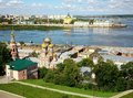 August summer view of scenic nizhny novgorod russia Stock Image