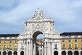 Augusta street arch lisbon portugal the Stock Image