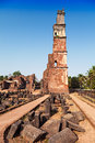 Augustine ruins in old goa goa state india Stock Photo