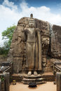 Aukana buddha statue in sri lanka carved out of a rock boulder Royalty Free Stock Photos