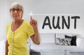 Aunt touchscreen is shown by senior Royalty Free Stock Image