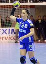 Aurelia bradeanu of oltchim ramnicu valcea pictured in action during a ehf champions league game between and slovenian Royalty Free Stock Photos