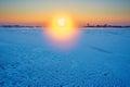 The aureole sunrise Royalty Free Stock Photo
