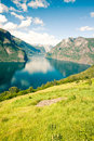 Aurlandsfjorden in Norway, Sognefjord Royalty Free Stock Photo