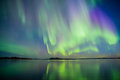 Aurora borealis the nature in greenland is amazing one of the amazing we get it northern lights it comes when the sun gets low and Stock Photos
