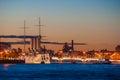 Aurora cruiser in Saint-Petersburg Royalty Free Stock Photo