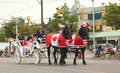 Aurora ontario canada july canada day parade at part of yong street young in on Royalty Free Stock Images