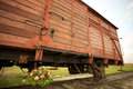 Auschwitz birkenau concentration camp train wagon in Royalty Free Stock Photography