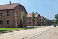 Auschwitz concentration camp barracks south of poland Stock Images