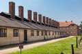 Auschwitz concentration camp barracks south of poland Stock Photography