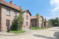Auschwitz concentration camp barracks south of poland Stock Image