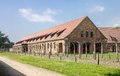 Auschwitz concentration camp barracks south of poland Royalty Free Stock Photography