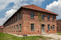 Auschwitz concentration camp brick barracks south of poland Royalty Free Stock Image