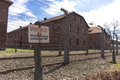 Auschwitz concentration camp was a network of german nazi camps and extermination camps built and operated by the Stock Photography