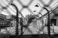 Auschwitz fence concentration camp of in poland Stock Photos