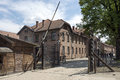 Auschwitz museum gate at the entrance of in the concentration camp in oswiecim poland on may oswiecim was the largest german Stock Image