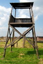 Auschwitz, Poland: Concentration Camp Watchtower Royalty Free Stock Image