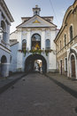 Ausros gate gate of dawn with basilica of madonna ostrobramska in vilnius lithuania Royalty Free Stock Photos