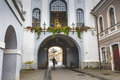 Ausros gate gate of dawn with basilica of madonna ostrobramska in vilnius lithuania Royalty Free Stock Images