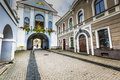 Ausros gate gate of dawn with basilica of madonna ostrobramska in vilnius lithuania Stock Images